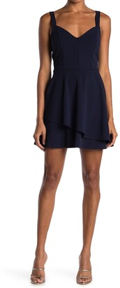 Love, Nickie Lew Layered V-Neck Skater Dress