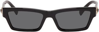 Versace Black Rectangular Medusa Sunglasses
