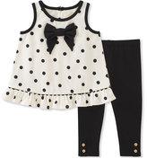 Kate Spade Polka Dot Bow Tank Top W/ Leggings, Size 12-24 Months