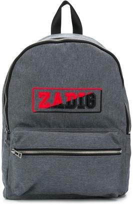 Zadig & Voltaire Kids Logo Print Backpack