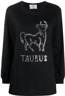 Alberta Ferretti Taurus crystal-embellished jumper