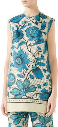 Gucci Sleeveless Maxi Alsacienne Print