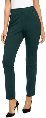 INC International Concepts Inc Curvy Zippered Straight-Leg Pants