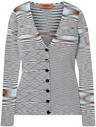 Missoni Striped Crochet-knit Cotton Cardigan