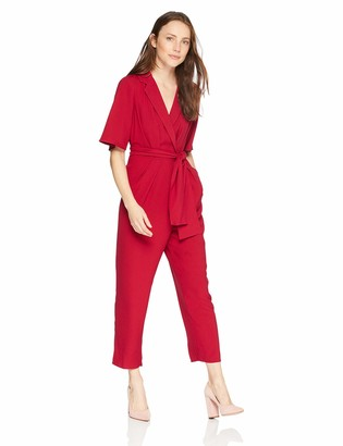 The Fifth Label Women's Chemistry Casual Short Sleeve Collared Wrap Jumpsuit