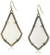 Kendra Scott Alex Antique Brass White Banded Agate Drop Earrings