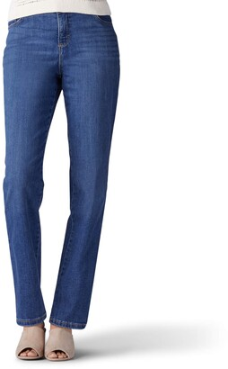 Lee Women's Instantly Slims Classic Relaxed Fit Monroe Straight Leg Jean