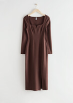 Thumbnail for your product : And other stories Fitted Sweetheart Neck Midi Dress