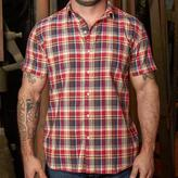 Blade + Blue Red, Navy & Cream Plaid Short Sleeve Shirt - Jules