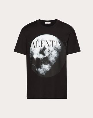 Valentino Moon Dust T-shirt Man Black Cotton 100% L