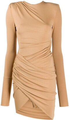 Alexandre Vauthier Gathered Wrap Dress