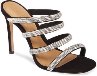 Schutz Sariah Strappy Crystal Slip-On Sandal