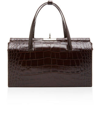 Gu_de Margot Croc-Effect Leather Shoulder Bag