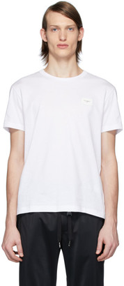 Dolce & Gabbana White Essential Logo Patch T-Shirt
