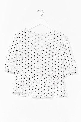 Nasty Gal Womens Spot It Right Puff Sleeve Cropped Blouse - White - S, White