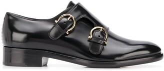 Salvatore Ferragamo Polished Monk Strap Shoes