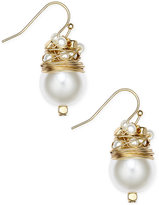 INC International Concepts Catherine Stein for Gold-Tone Imitation Pearl Drop Earrings, Only at Macy's