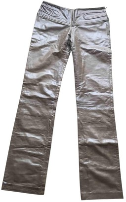 Jitrois Brown Leather Trousers for Women