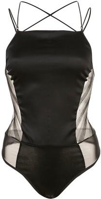 Kiki de Montparnasse striped lurex bodysuit