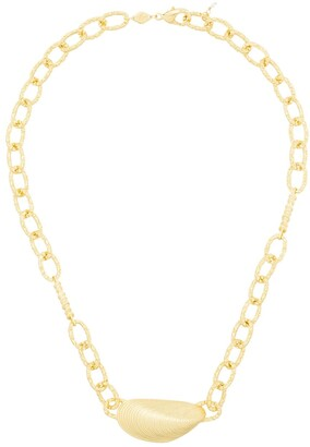 Anni Lu 18kt Gold Plated Brass Mussel Shell Necklace
