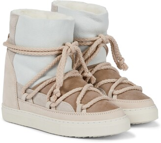 INUIKII Shearling-lined leather ankle boots