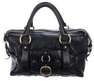 Celine Leather Boston Bag