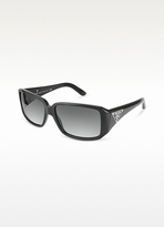 Triangle-Crest Rectangular Sunglasses