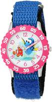 Disney Girl's 'Finding Dory' Quartz Stainless Steel and Nylon Automatic Watch, Color: (Model: W003101)
