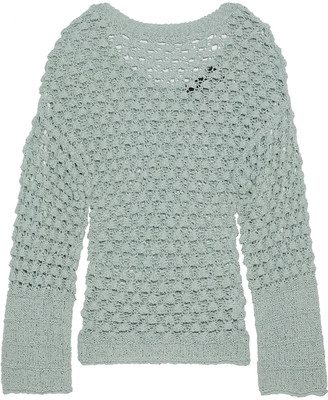 Theory Crocheted Cotton-blend Sweater