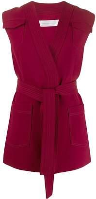 Victoria Victoria Beckham sleeveless belted cardigan