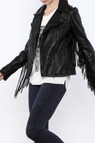 Vintage Havana Leatherette Fringe Jacket