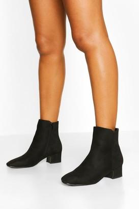 boohoo Low Block Heel Shoe Boots