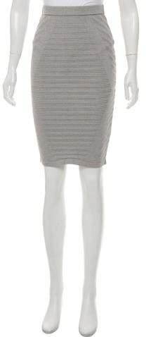 Knee-Length Rib-Knit Skirt