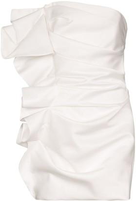 Alexandre Vauthier Strapless Ruffled Mini Dress