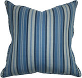 Barclay Butera Striped 22x22 Chambray Pillow, Blue