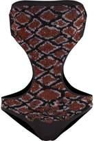 Roberto Cavalli Sequin-Embellished Cutout Swimsuit