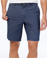 Club Room Men's Foulard-Pattern Cotton Shorts, Only at Macy's