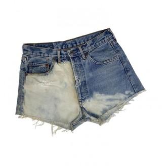 Levi's Vintage Clothing White Denim - Jeans Shorts