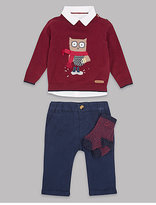 Autograph 4 Piece Jumper, Shirt & Trousers with Socks