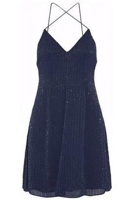 Alice + Olivia Beaded Silk-chiffon Mini Dress