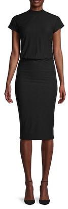 James Perse Raglan-Sleeve Stretch-Cotton Dress