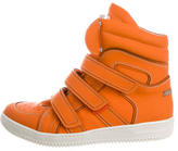 DSQUARED2 Leather High-Top Sneakers w/ Tags