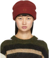 Acne Studios Red Face Beanie