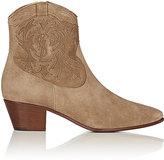 Saint Laurent Women's Rock Suede Cowboy Boots-TAN