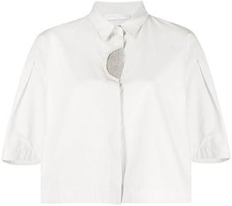 Fabiana Filippi Boxy-Fit Cropped Shirt