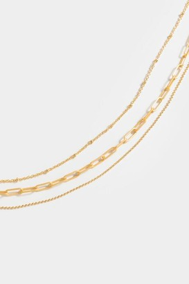 francesca's Kailani Chain Layered Necklace - Gold