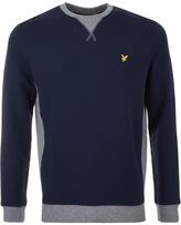 Lyle & Scott Crew Neck Contrast Sweatshirt Navy