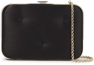 Anya Hindmarch Chubby Quilted Satin Box Clutch