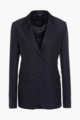 Valentino Satin-trimmed Wool And Mohair-blend Blazer