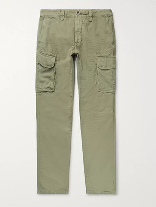 Incotex Slim-Fit Cotton and Linen-Blend Cargo Trousers - Men - Green